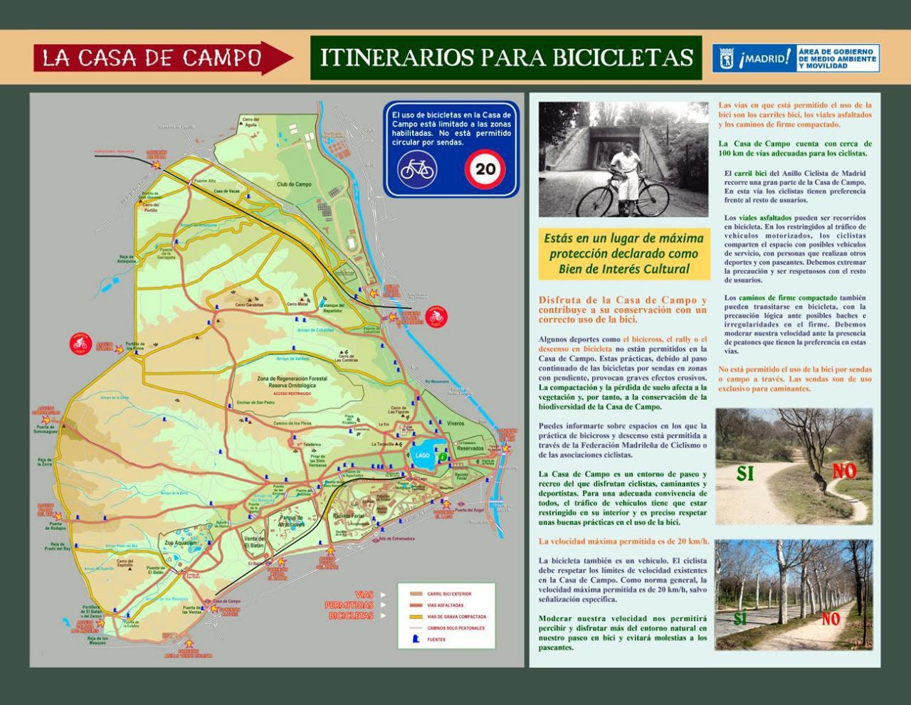En bici por la Casa de Campo – Eduardo Collado
